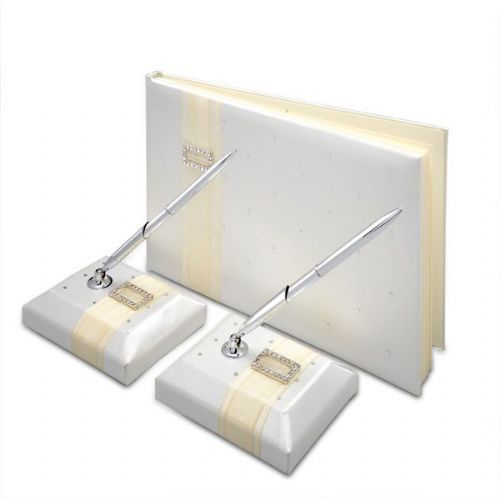 Satin Guest book with pen